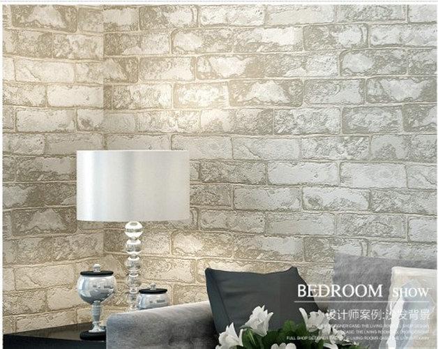 washable pvc wall panelling retro 3D vinyl wallpapers brick wall 628x500