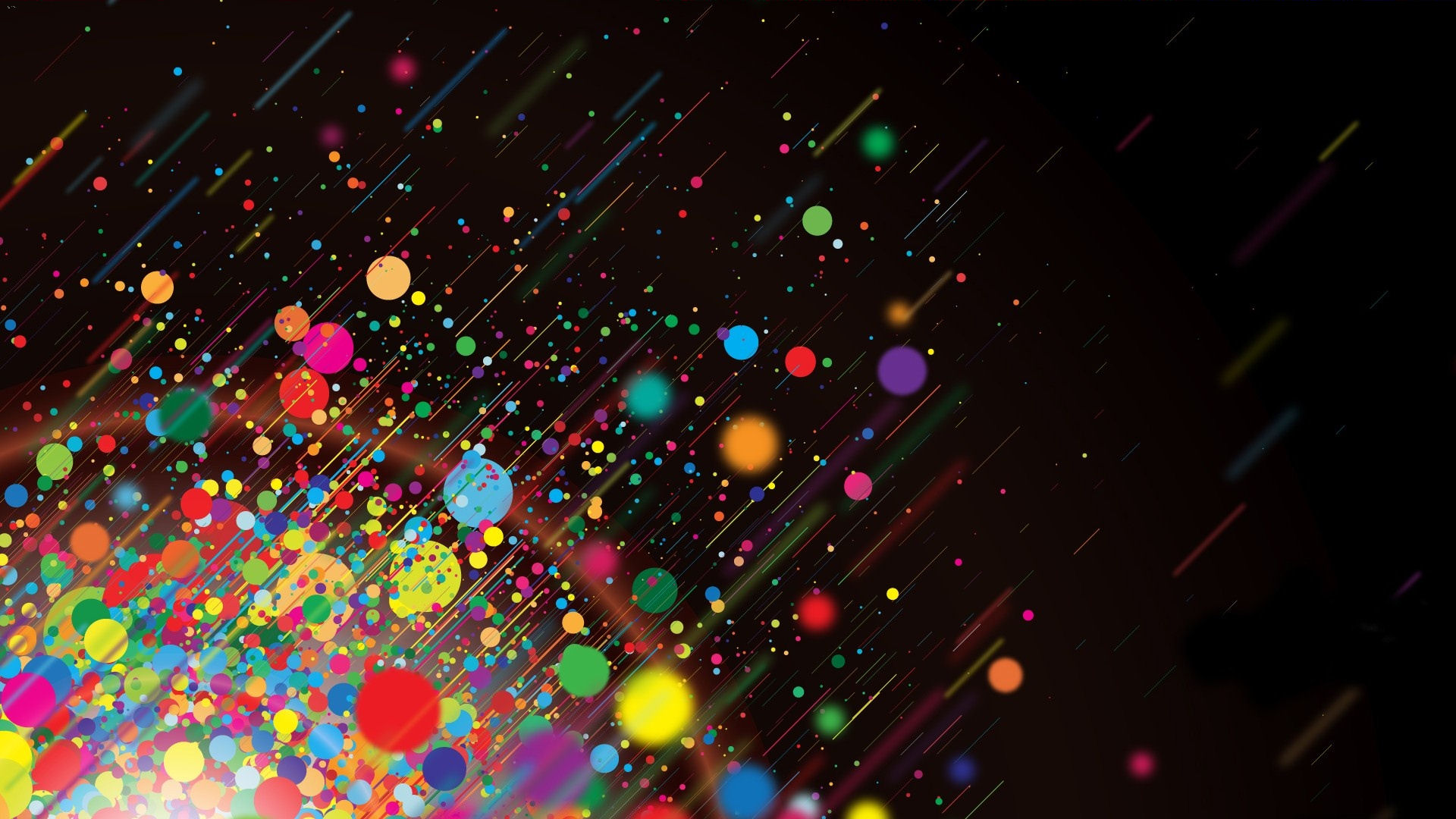 free cool custom twitter backgrounds bright colorful dots 1920x1080