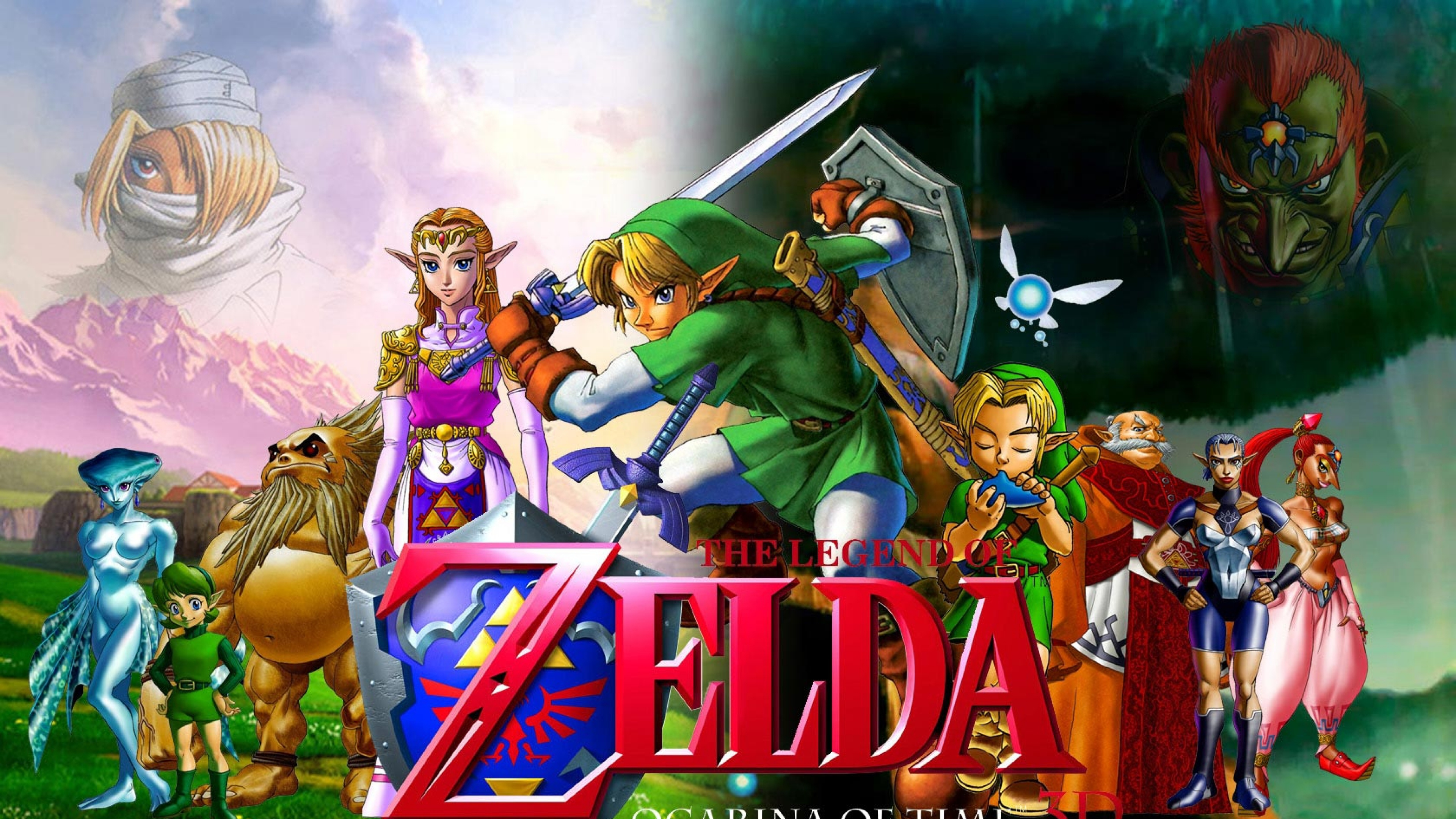 zelda Characters Faces Swords Zelda Wallpaper Background 4K Ultra 3840x2160