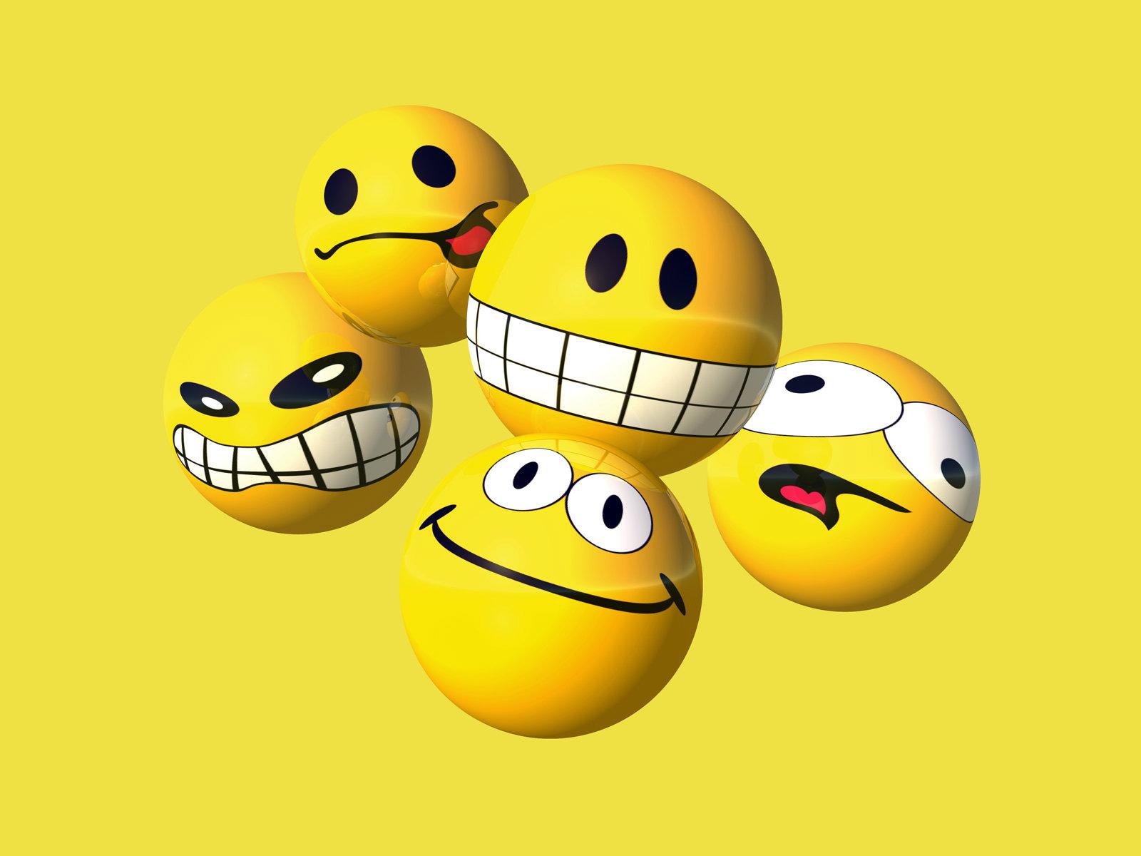 Beautiful Smileys Emoticons Wallpapers For Desktop HD 1600x1200