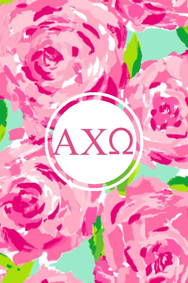 Alpha chi omega Lilly monogram iPhone background 640x960