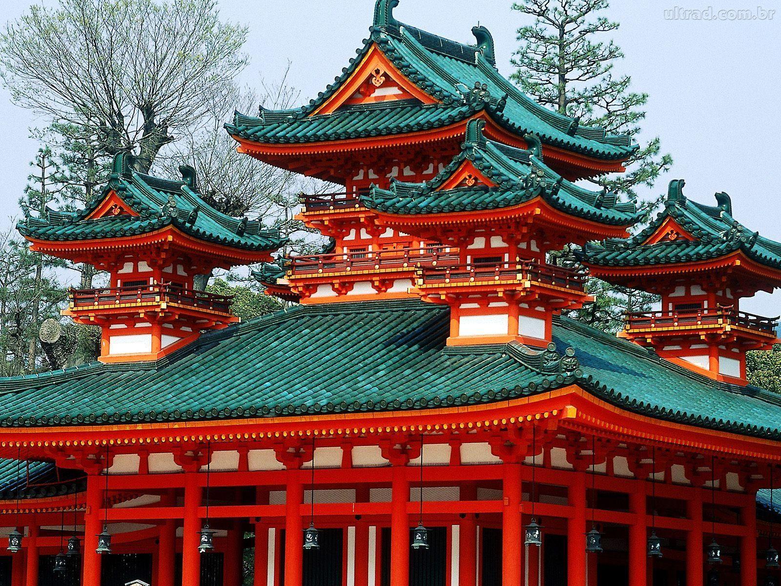 Papel de Parede Santurio Heian Kyoto Japo 1600x1200