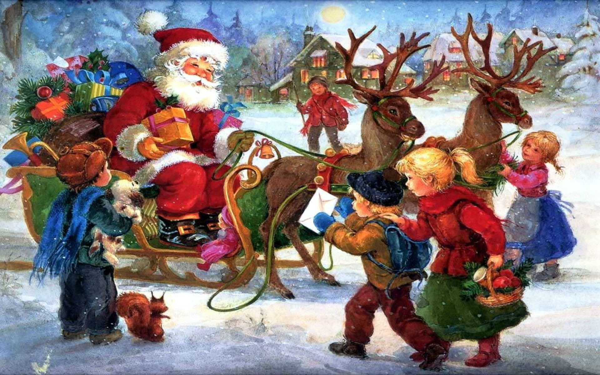 Images of Old Fashioned Christmas Wallpapers 1600x1200 - #CALTO