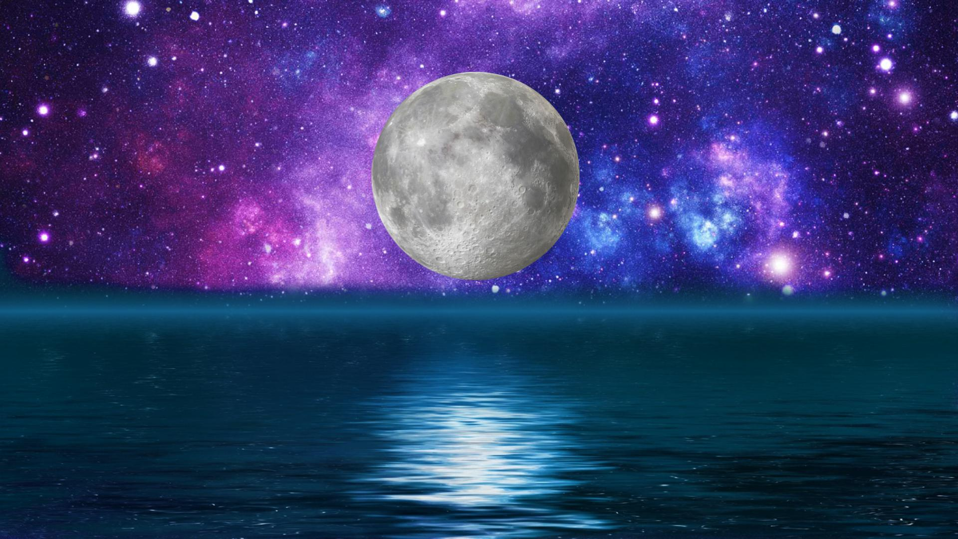 Moon over water   124308   High Quality and Resolution Wallpapers 1920x1080