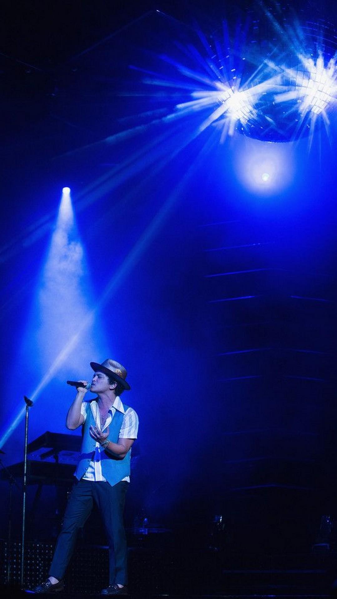 Bruno Mars Hat Concert iPhone Wallpaper 2019 3D iPhone Wallpaper 1080x1920