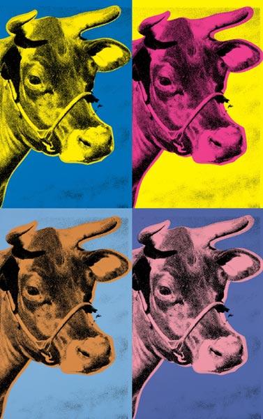 andy warhol cow wallpaper 1966 wallpapersafari. Black Bedroom Furniture Sets. Home Design Ideas