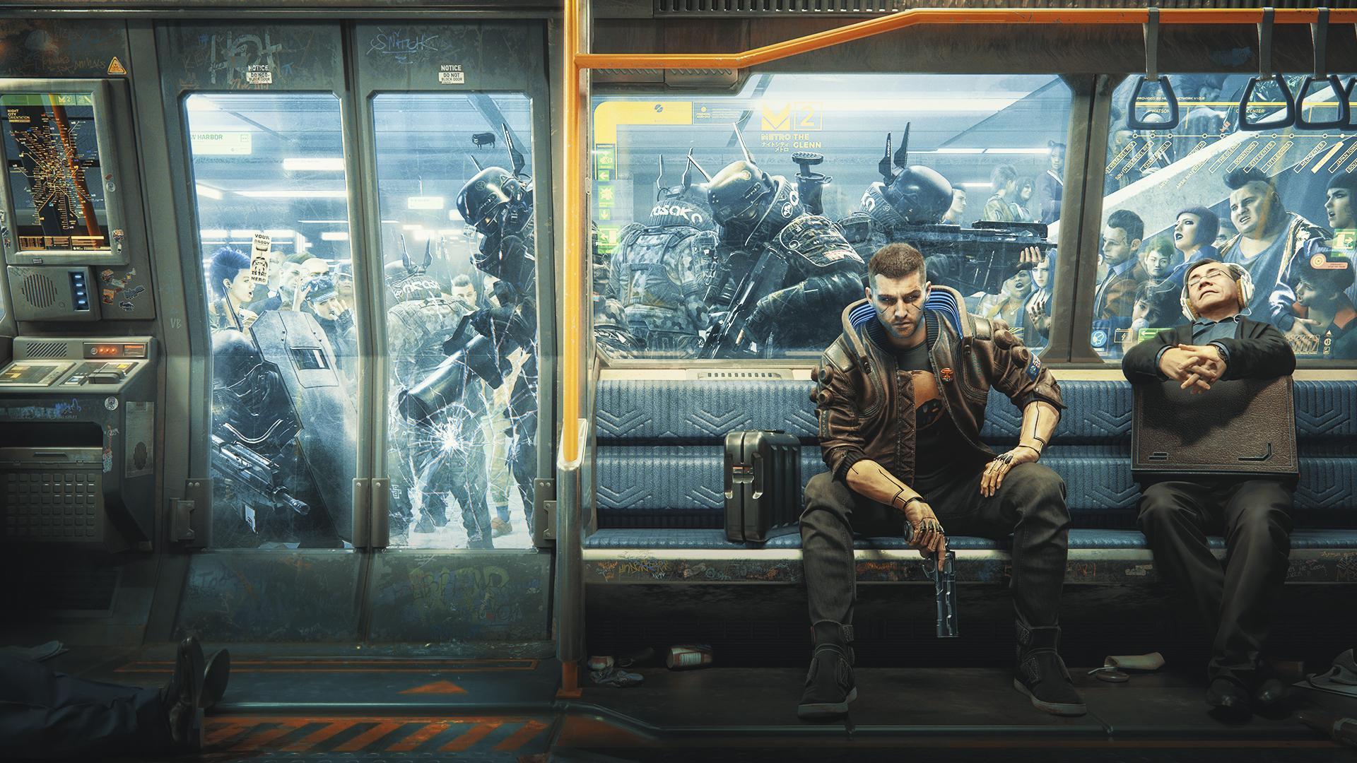 Cyberpunk 2077   chaos metro wallpaper 1920x1080 cyberpunkgame 1920x1080