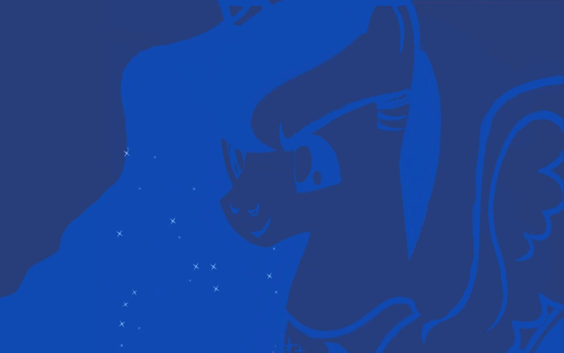Luna navy blue wallpaper by BronyGamer on deviantART 1131x707