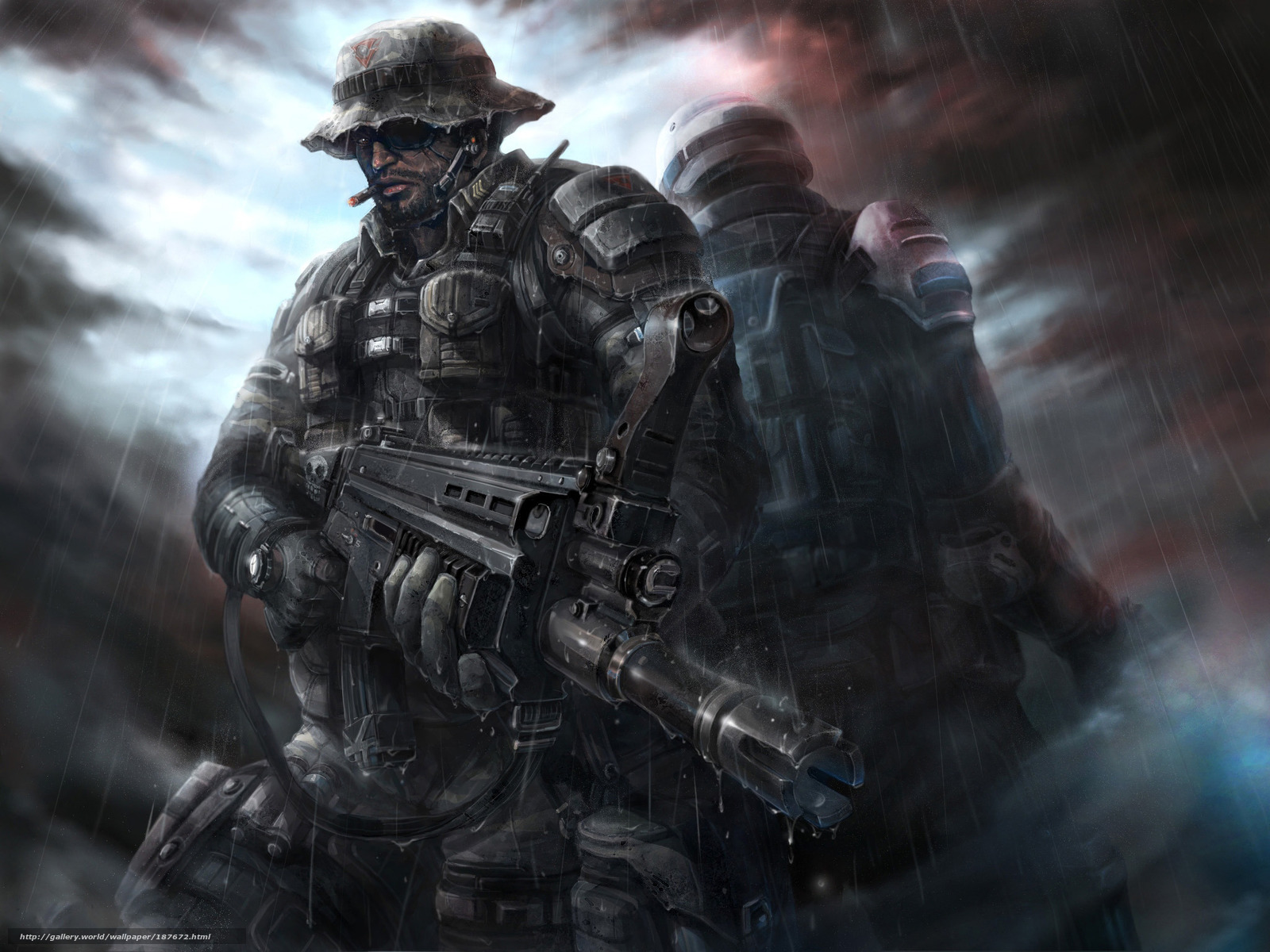 wallpaper Soldiers Special Forces machine back desktop 1600x1200