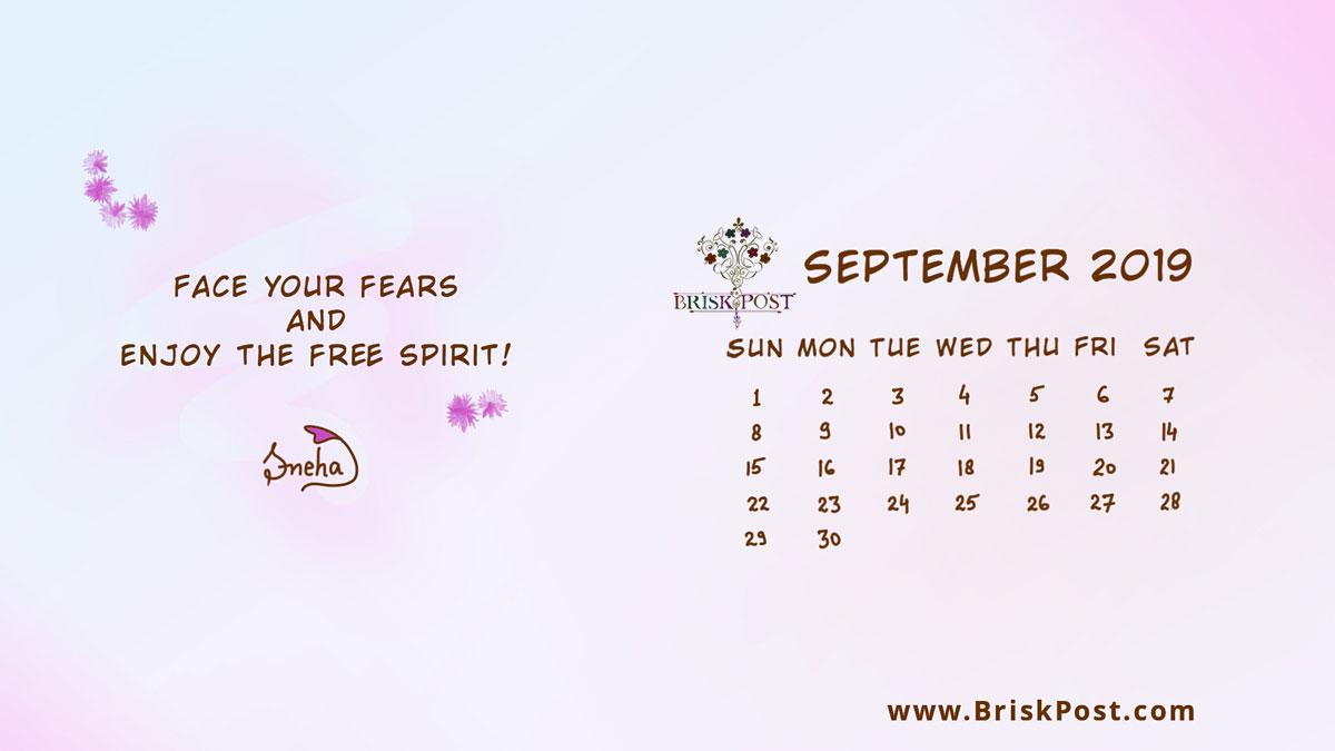 September 2019 Calendar 1200x675