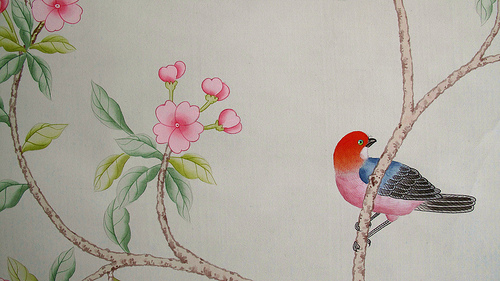 and Wong handpainted chinese silk wallpaper Flickr   Photo Sharing 500x281