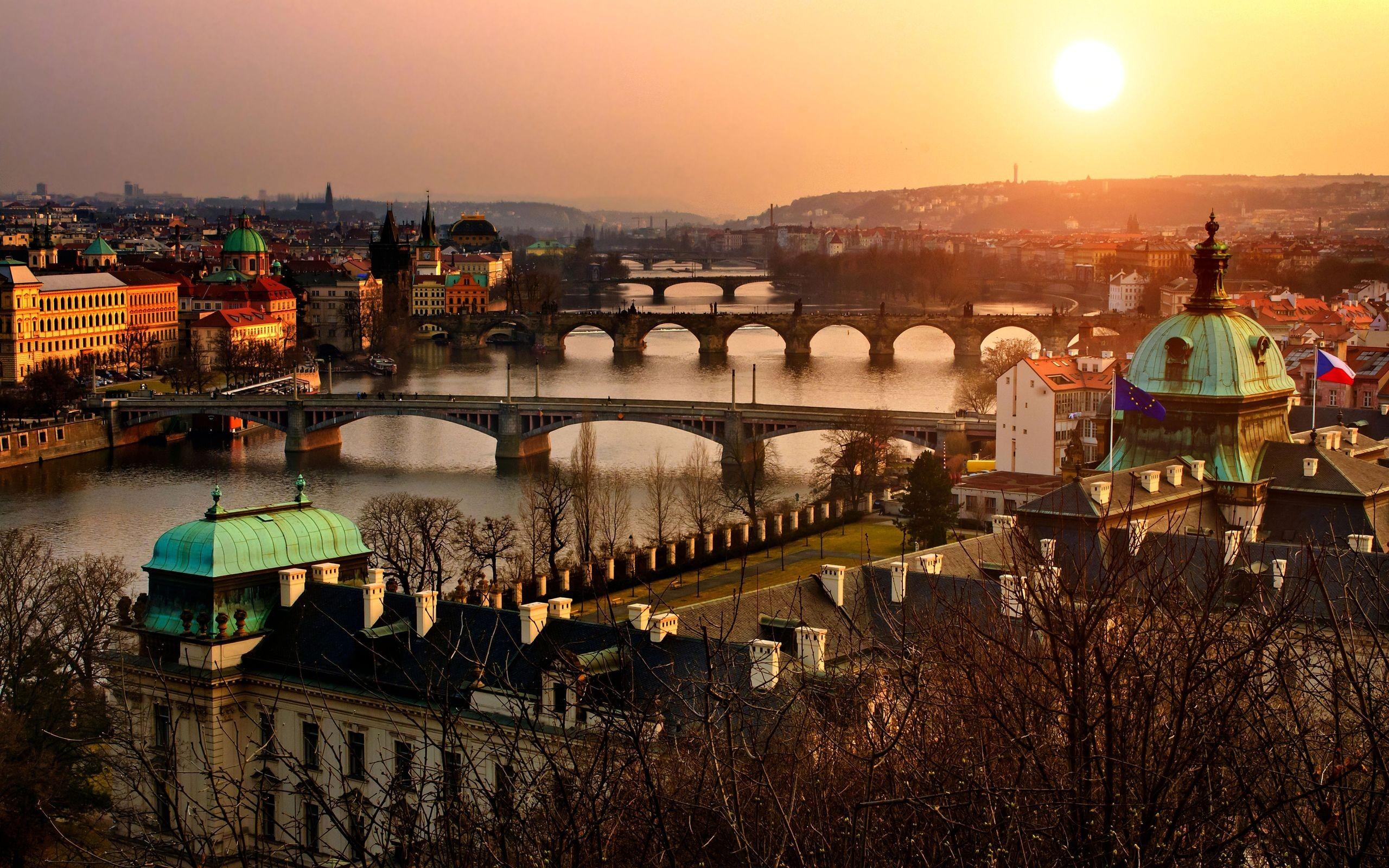 Daily Wallpaper Sunset over Prague Czech Republic I Like To 2560x1600