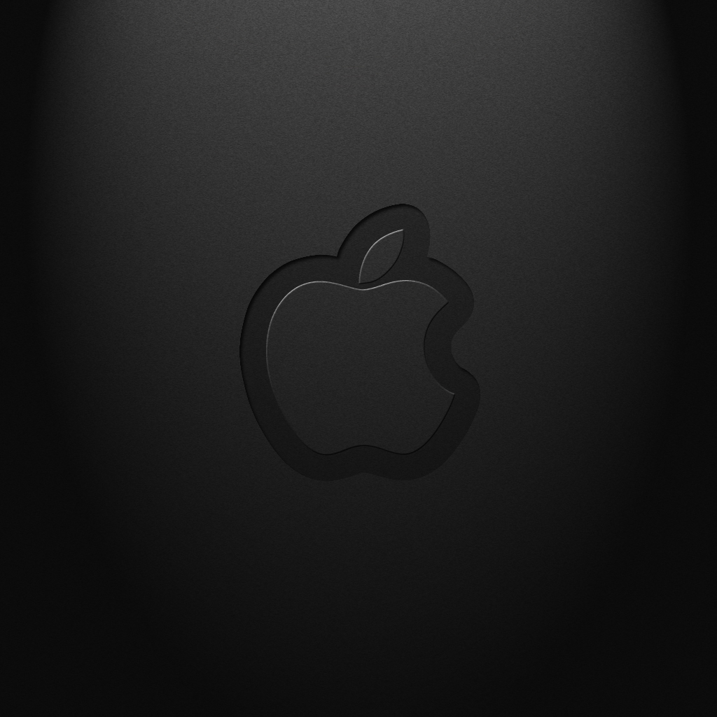 Download Black Apple logo Wallpaper 1024x1024 background and 1024x1024