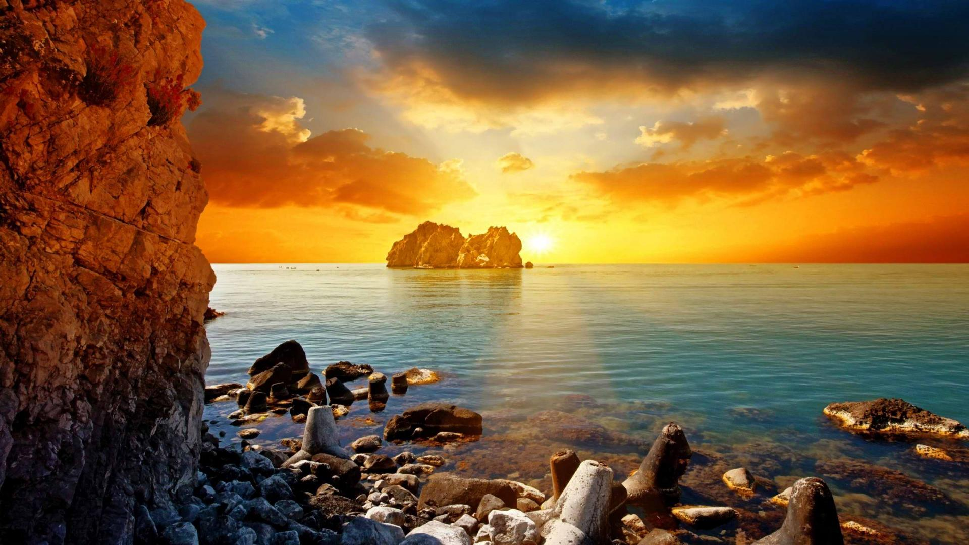 Sunset Pictures HD Wallpaper wallpapers55com   Best Wallpapers 1920x1080