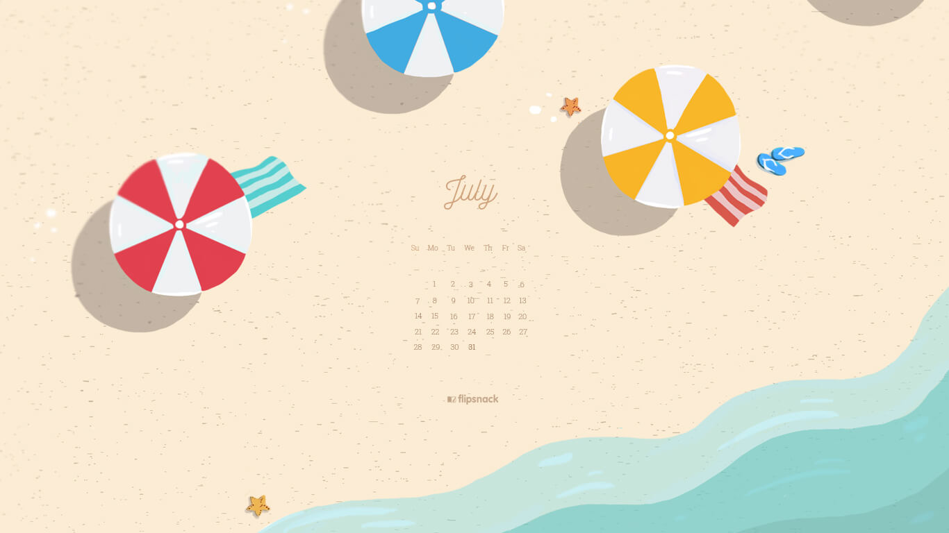 July 2019 wallpaper calendar   Flipsnack Blog 1366x768