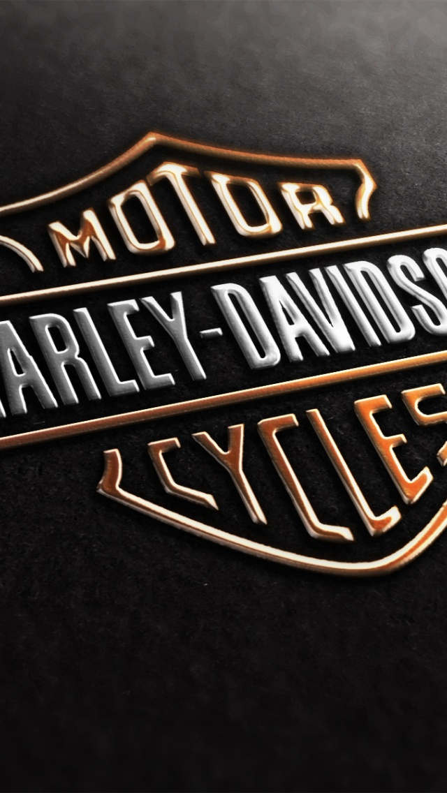 640x1136 Harley Davidson Logo Iphone 5 wallpaper 640x1136