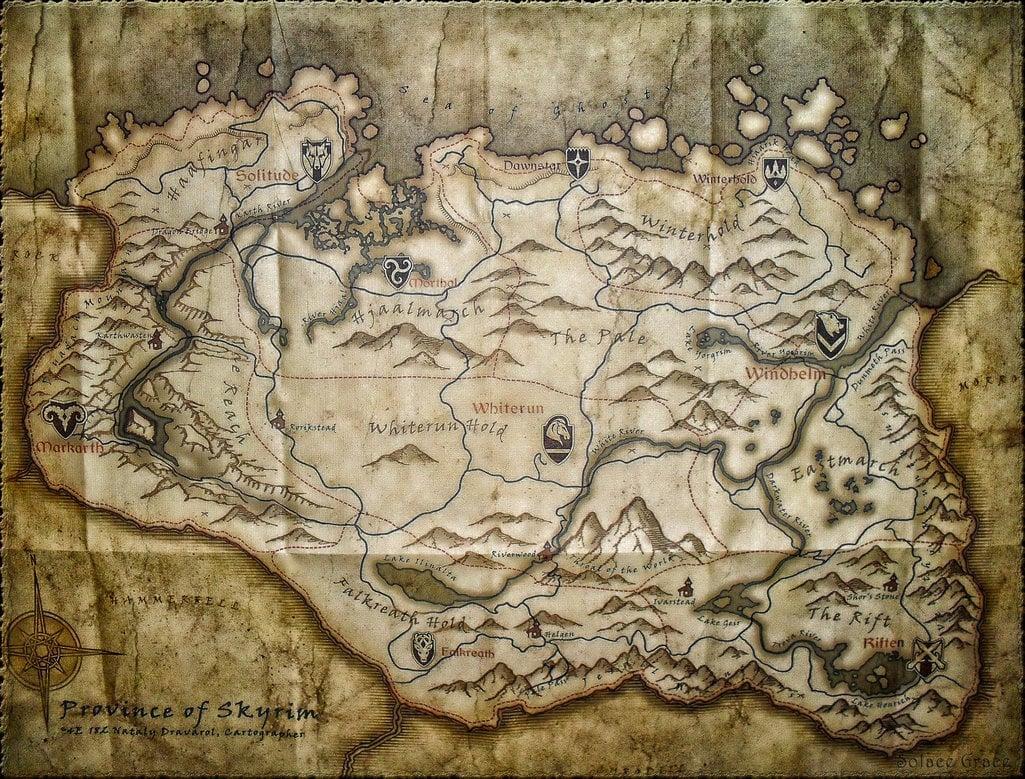 73 Skyrim Map Wallpaper On Wallpapersafari