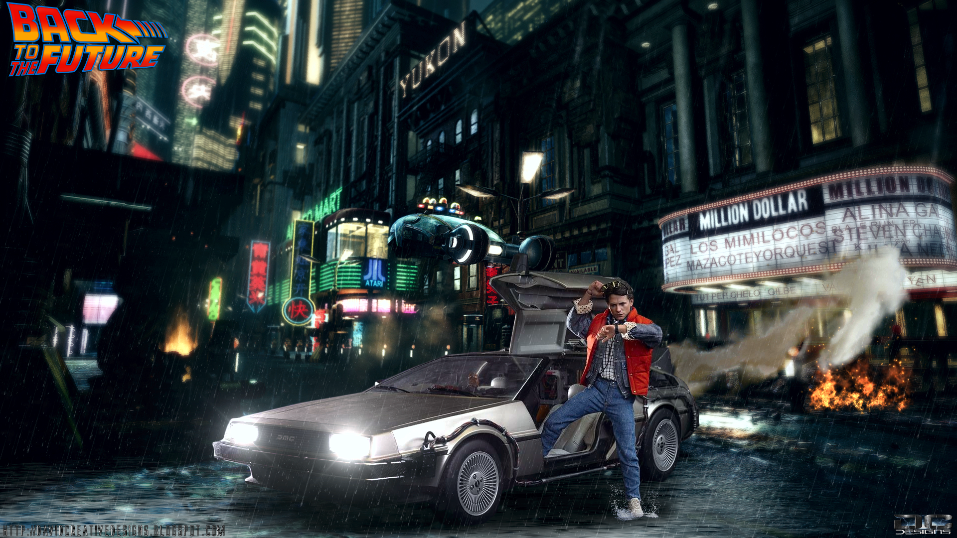 Hot Toys Back To The Future HD Wallpaper DC Designs 1920x1080