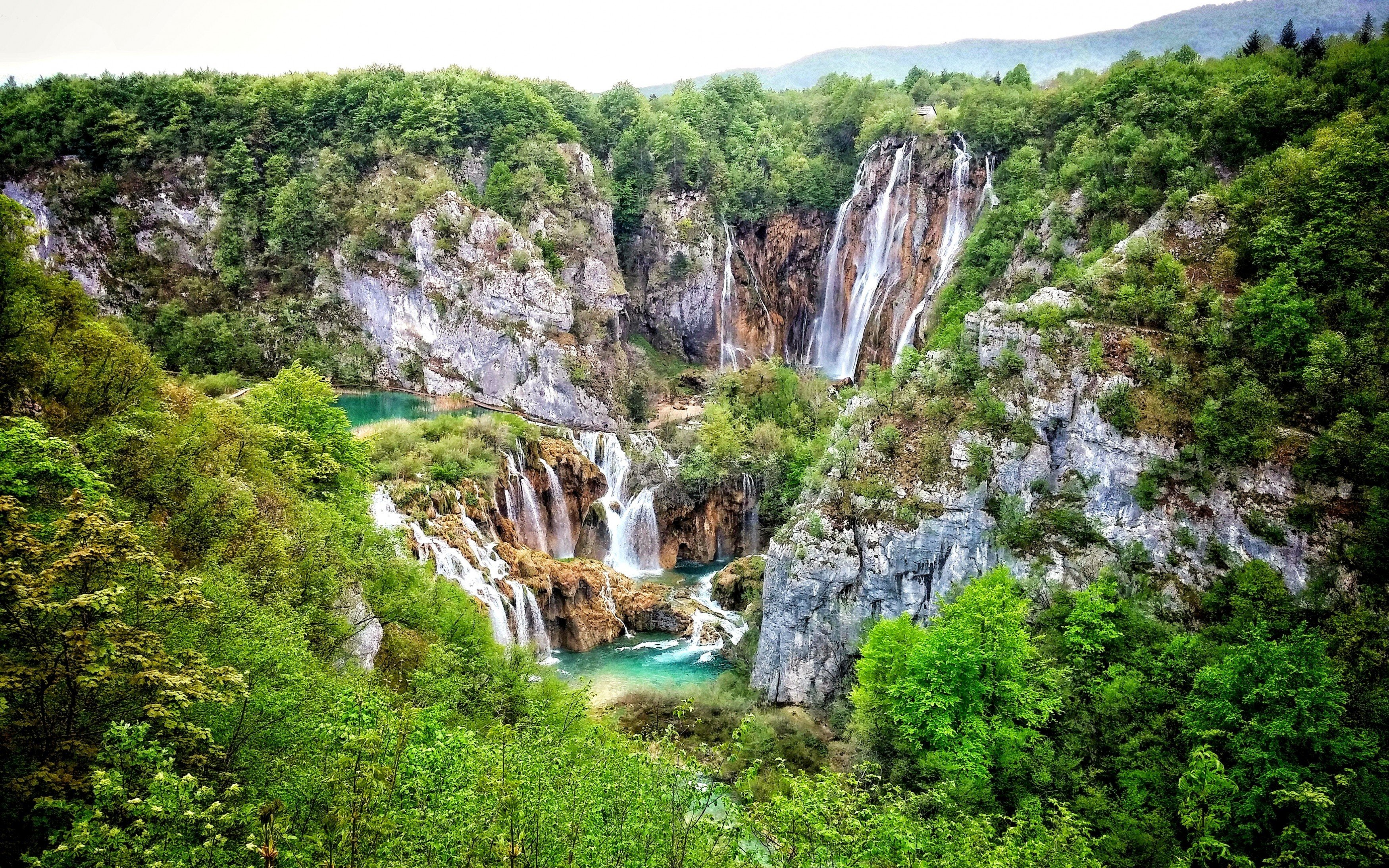 Download 3500x2188 Plitvice Lakes National Park Croatia Mountain 3500x2188