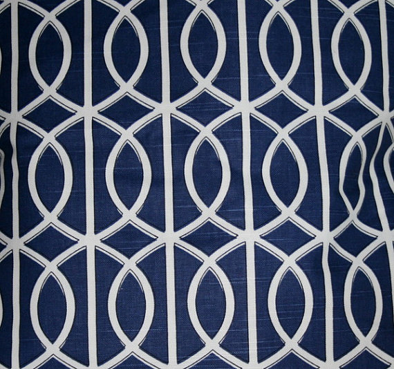 Navy Blue and White Geometric 18 inch Decorative Pillows Throw Pillow 570x534