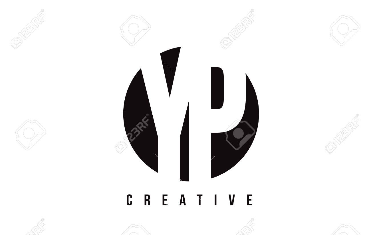 YP Y P White Letter Logo Design With Circle Background Vector 1300x825