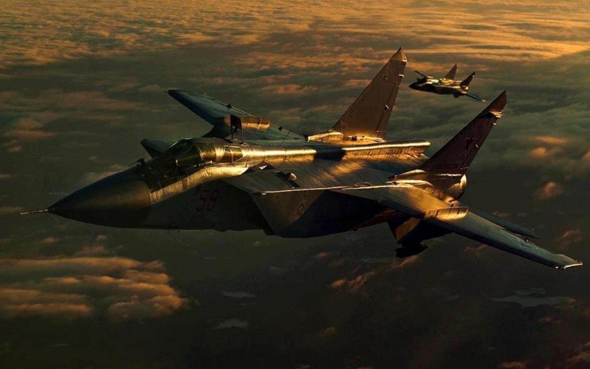 MIG 31 fighter jet military airplane plane russian mig 25 1920x1200