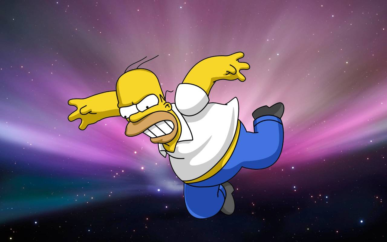 Wallpaper Desktop Simpson Homer Simpsons Size 1366 768 1280x800