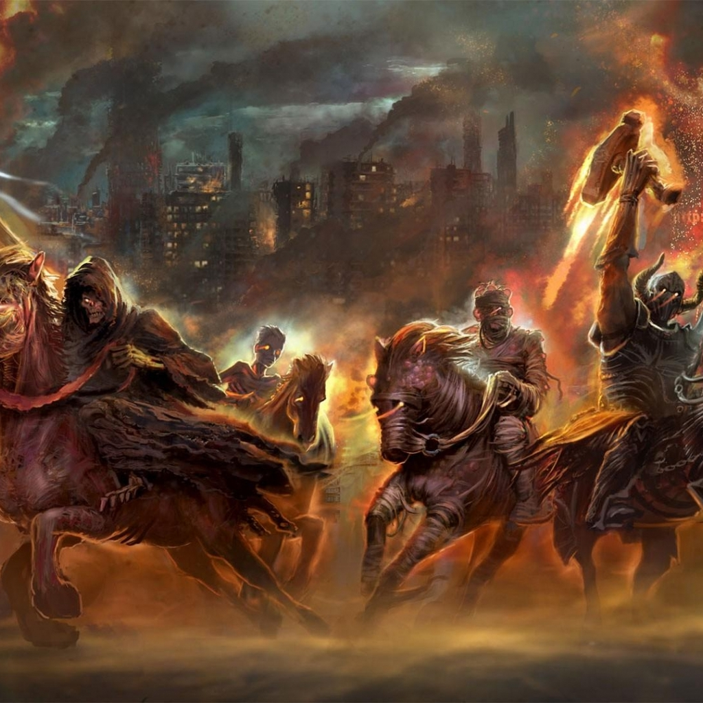 Download Four Horsemen Of The Apocalypse wallpaper in Games wallpapers 1024x1024