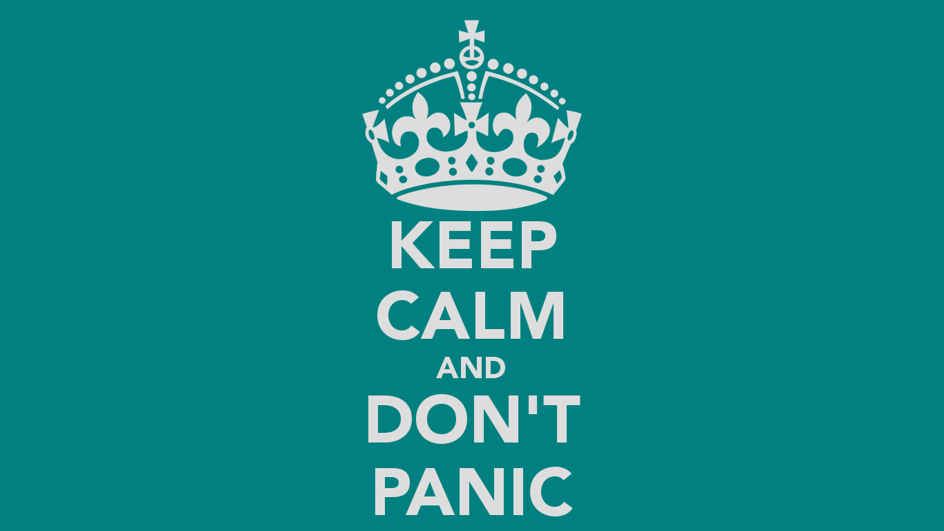 KEEP CALM AND DONT PANIC   KEEP CALM AND CARRY ON Image Generator 1366x768