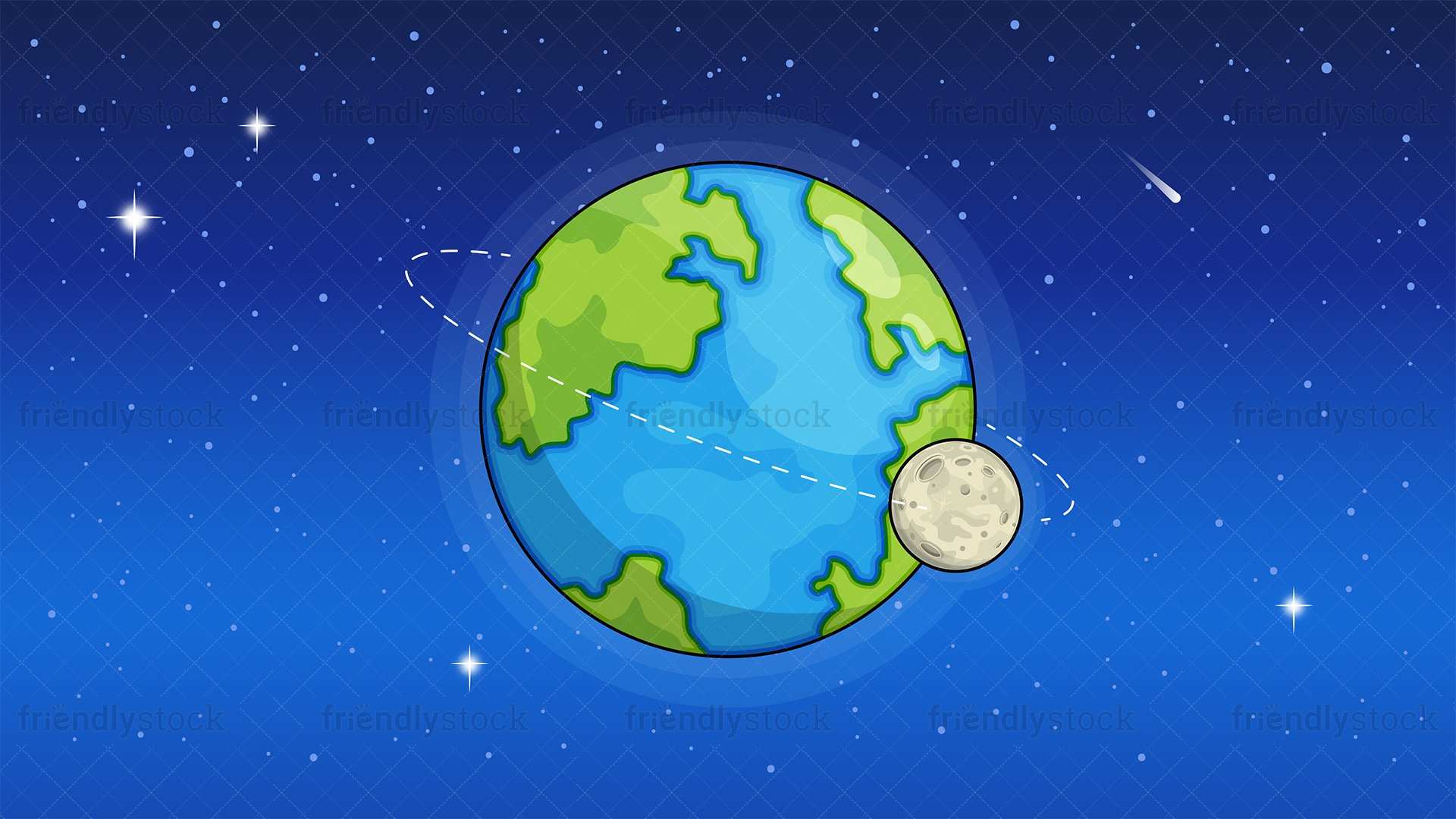 Earth From Space Background Cartoon Clipart Vector   FriendlyStock 1920x1080