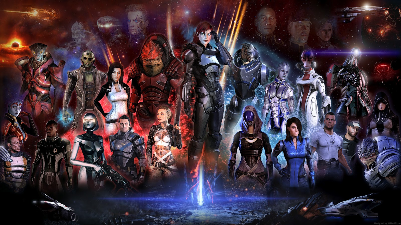 The Geeky Nerfherder Awesome Mass Effect Artwork by TheJTizzle 1600x900