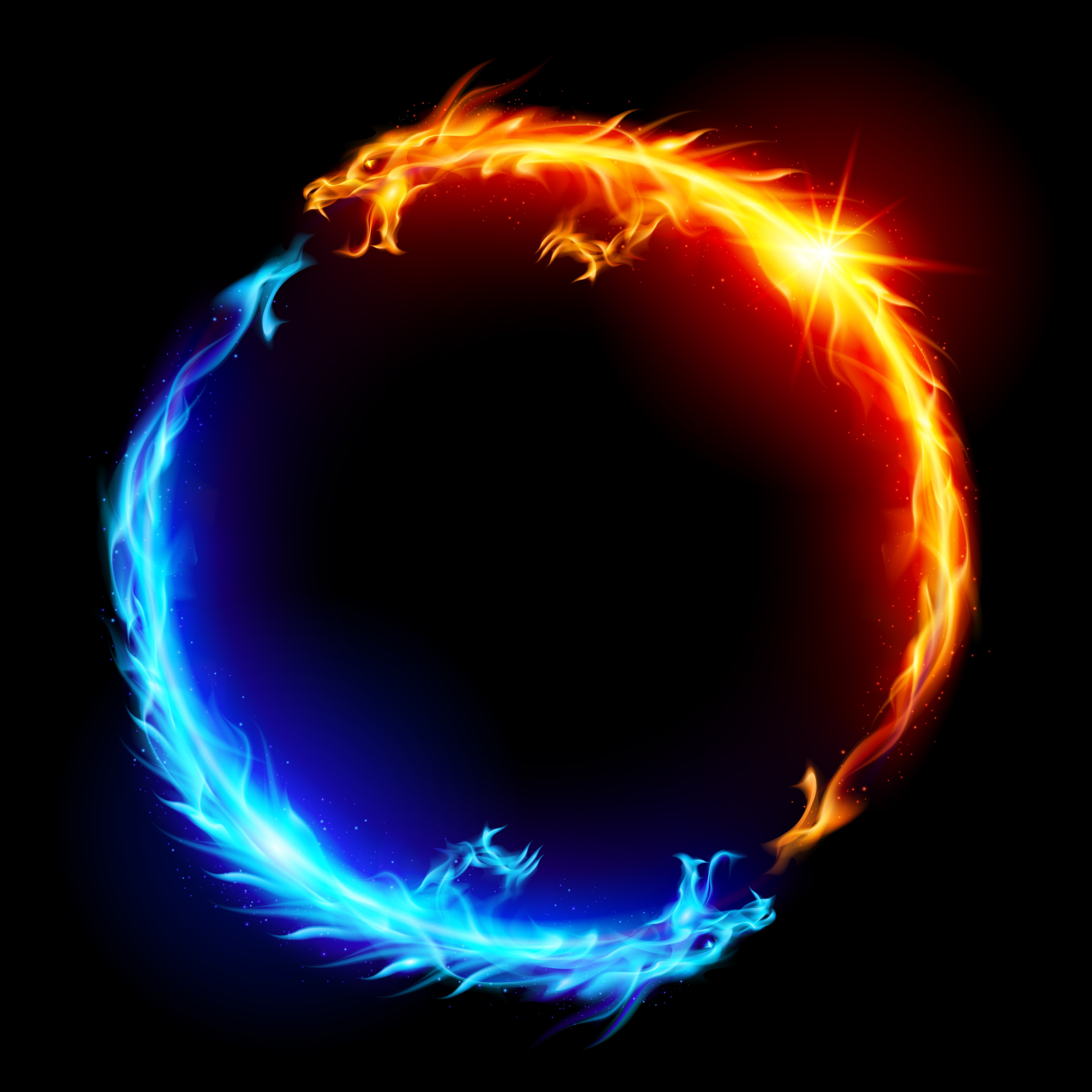 Red and Blue Fire Wallpaper - WallpaperSafari