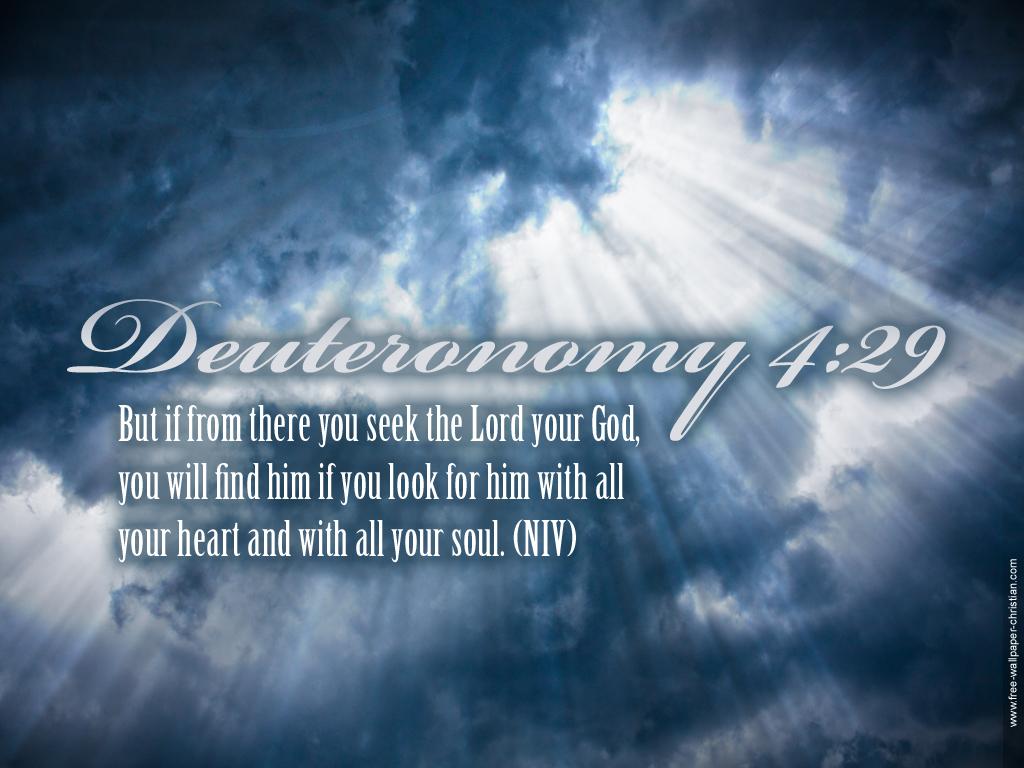 Bible Verse Deuteronomy 429 Wallpaper   Christian Wallpapers and 1024x768