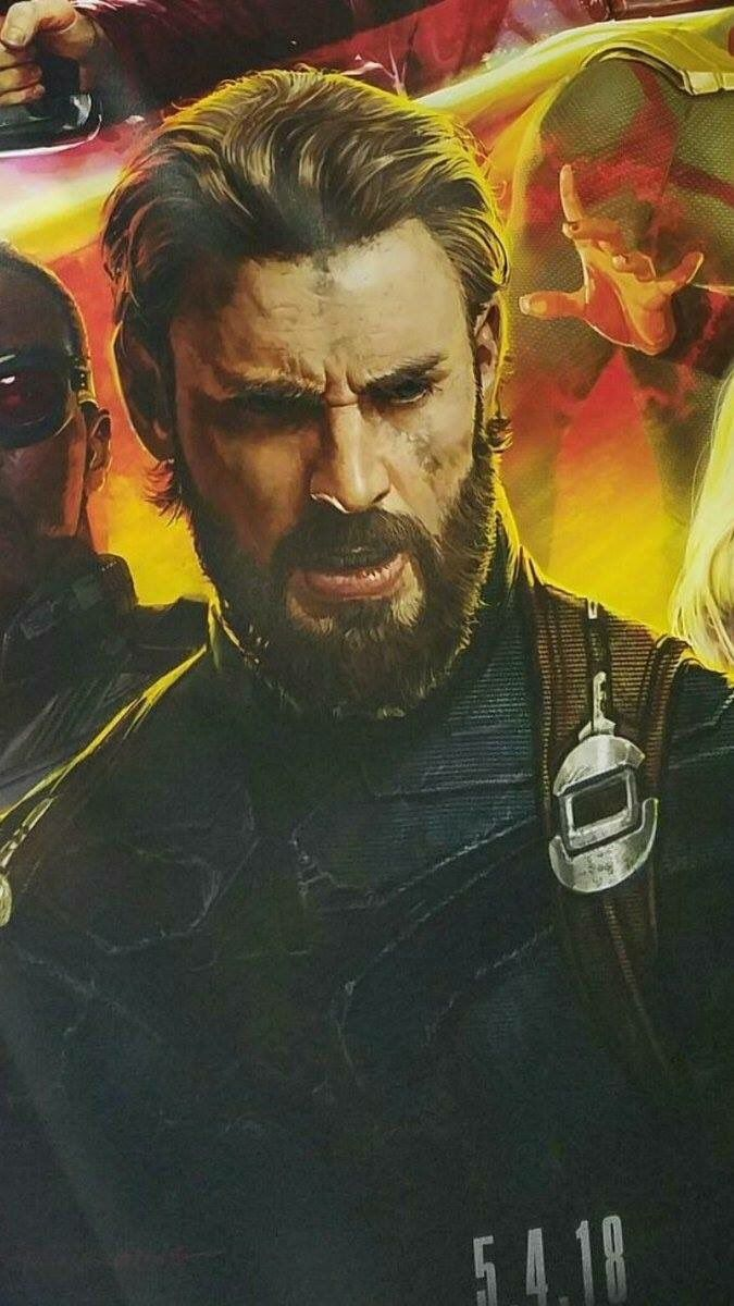 Captain with a beard Okay but his suit looks like he took his old 675x1200