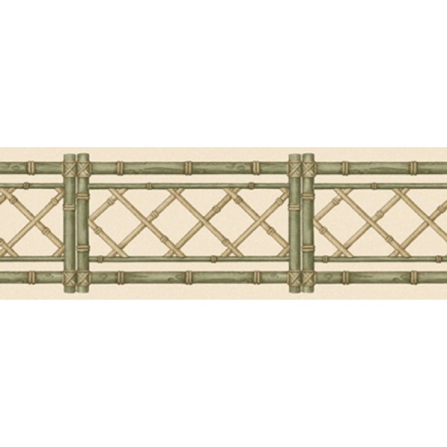 Lattice with Green Laser Cut Wall Border   All 4 Walls Wallpaper 650x650