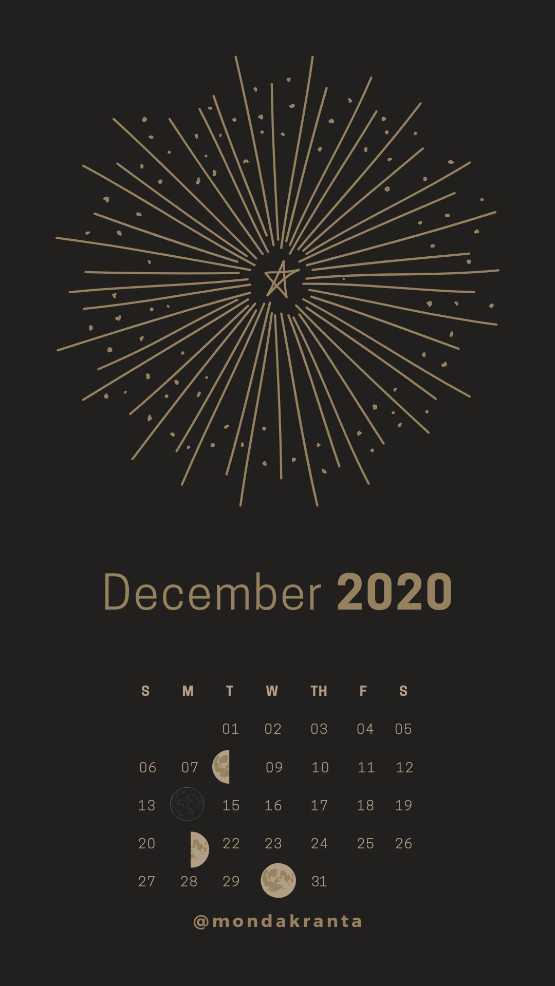 December Lunar Calendar 2020 di 2020 Wallpaper ponsel Fotografi 1080x1920