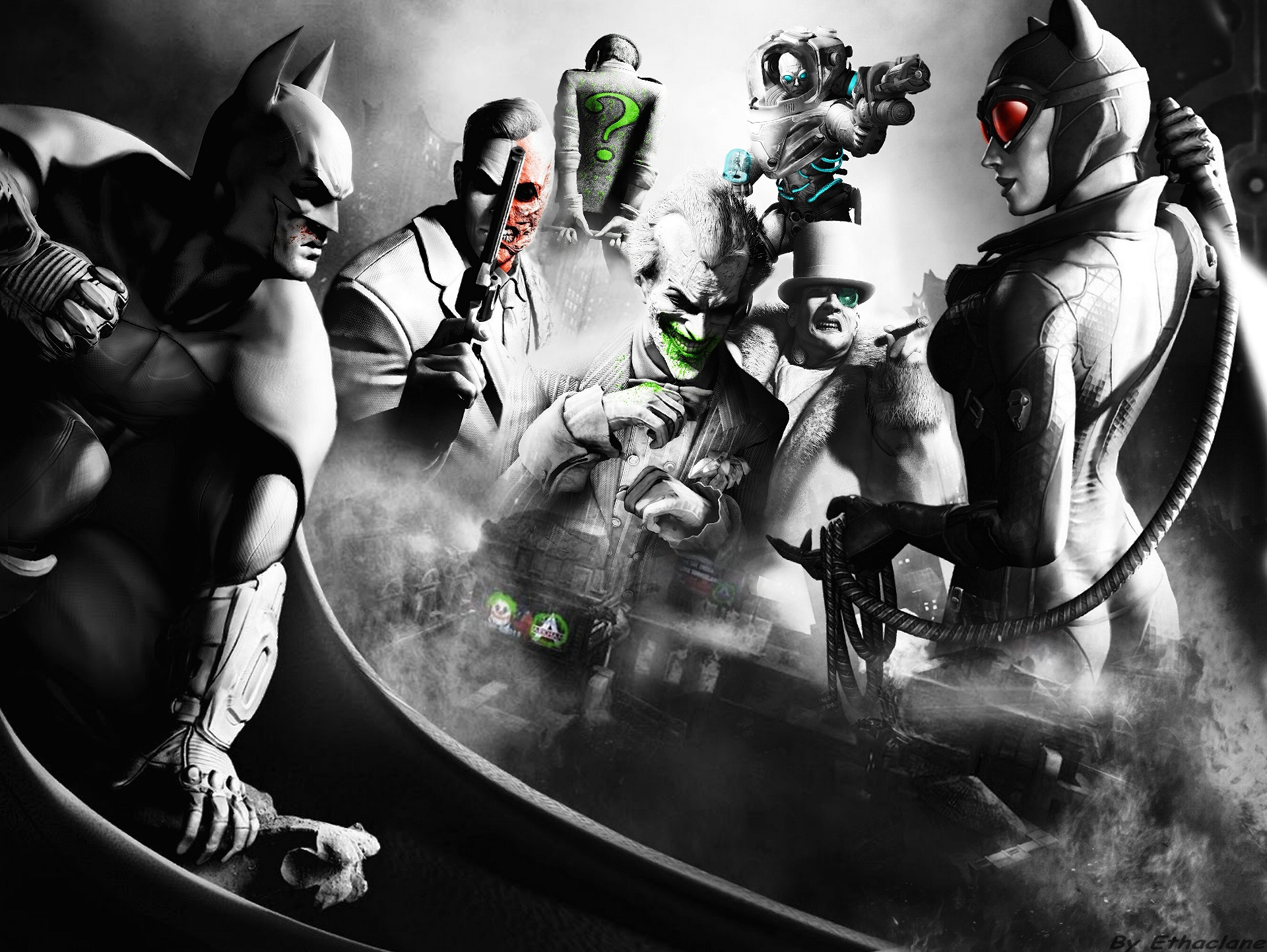 Comic world Batman Arkham City Wallpaper 1920x1443