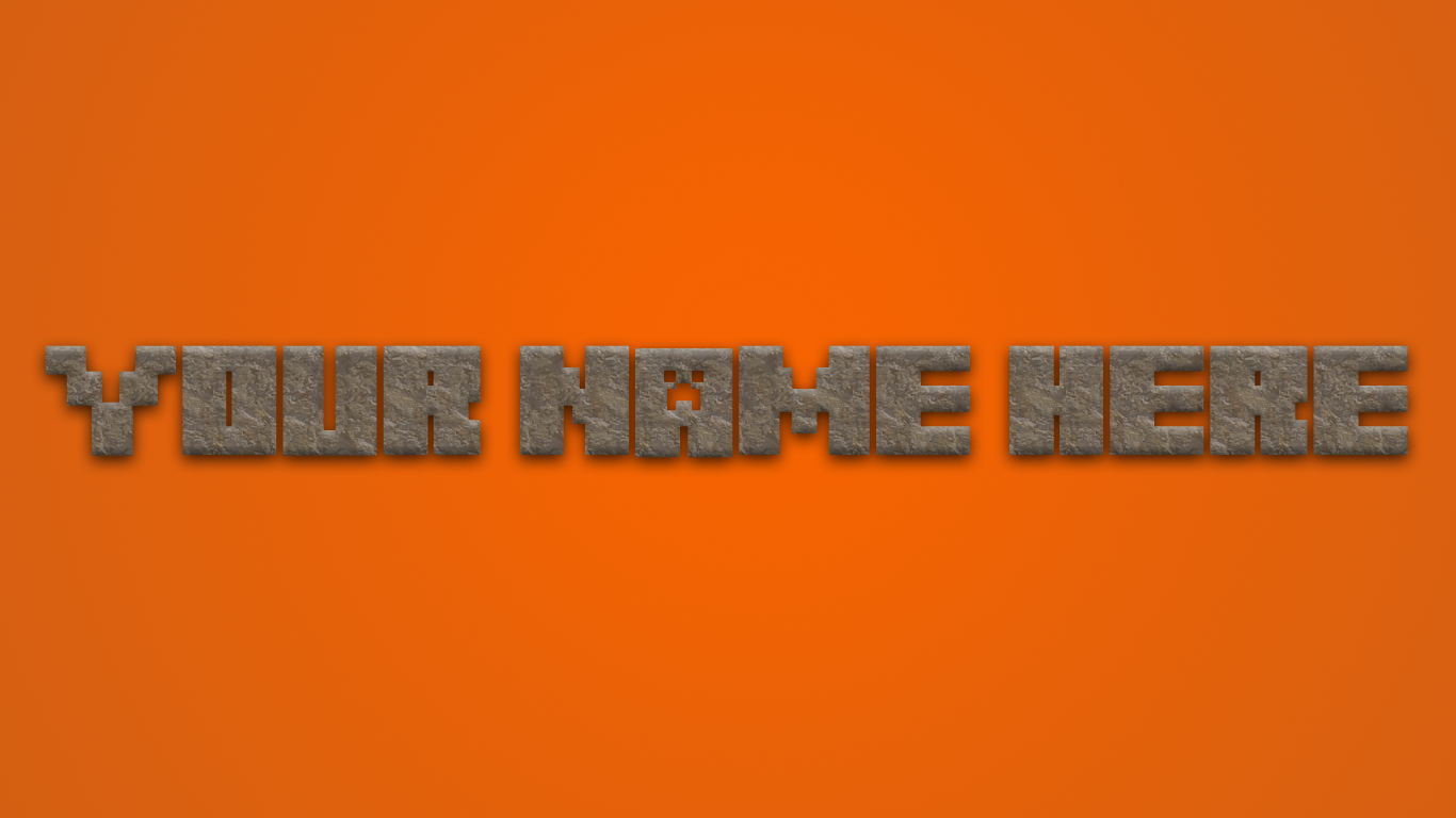 Get your own Minecraft Logo 1366x768