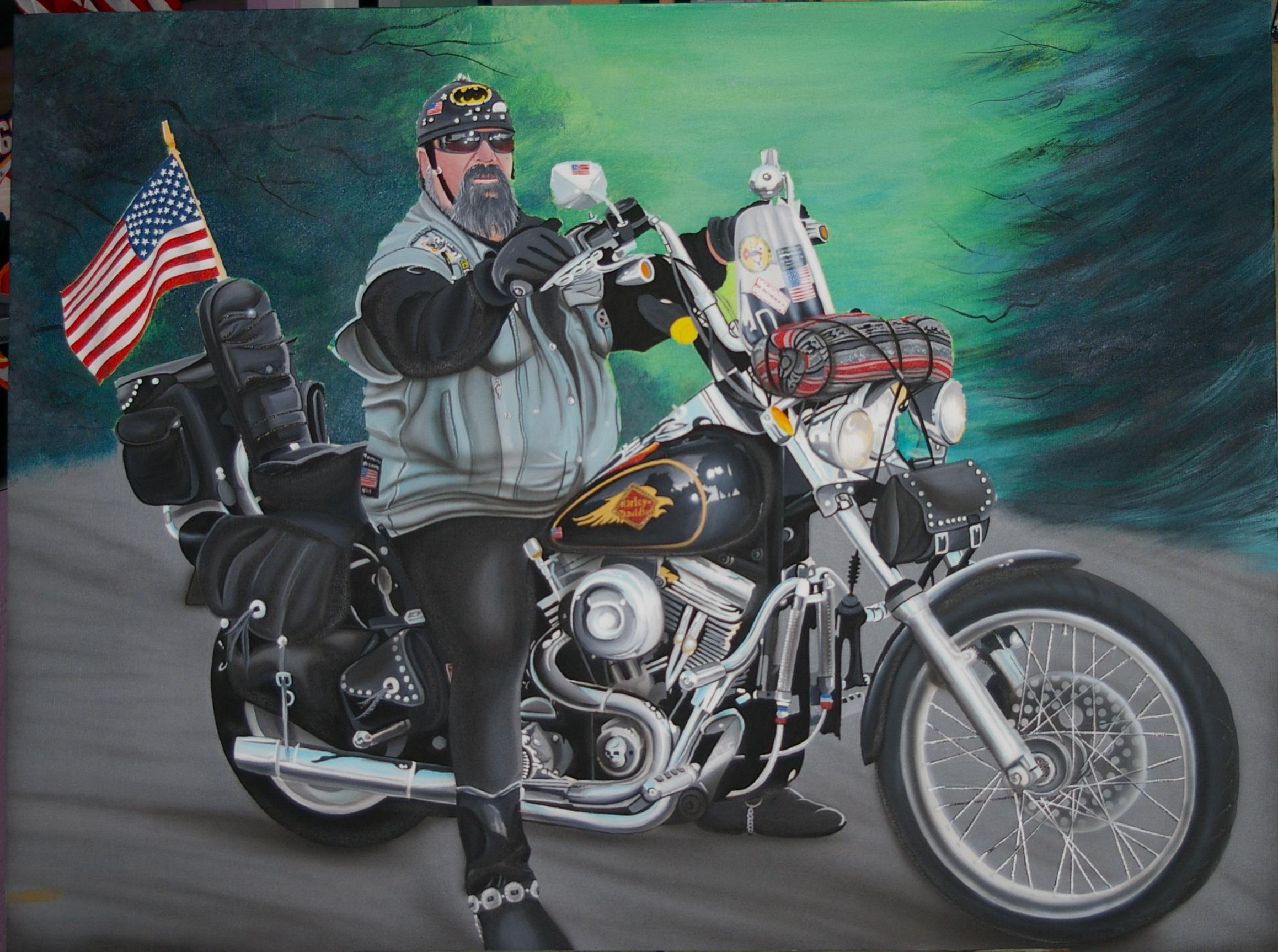 David Mann Motorcycle Art Wallpaper 2317x1726