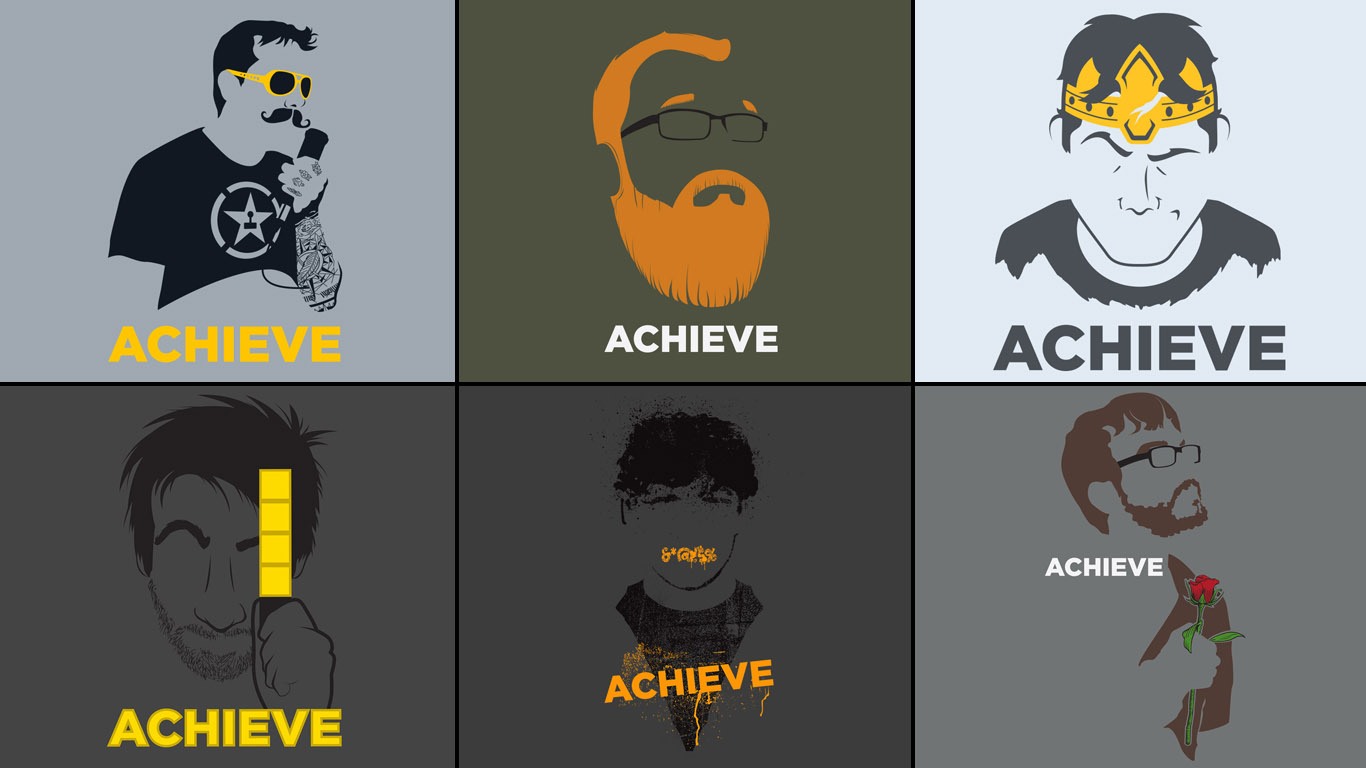 this wallpaper using the achieve shirts Individual wallpapers 1366x768