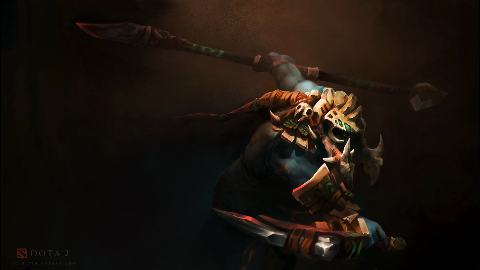Awesome Huskar Wallpaper   Dota 2 Wallpaper 1600x900