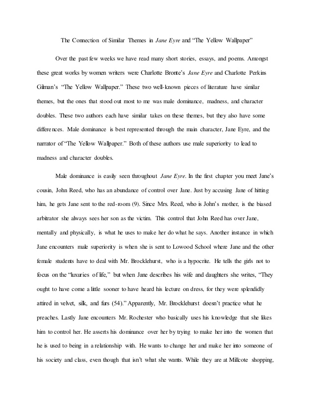jane eyre patriarchal dominance essay example Analysis of jane eyre this book/movie report analysis of jane eyre and other 64,000+ term papers, college essay examples and free essays are available now on reviewessayscom autor: review • june 7, 2011 • book/movie report • 1,242 words (5 pages) • 1,759 views.