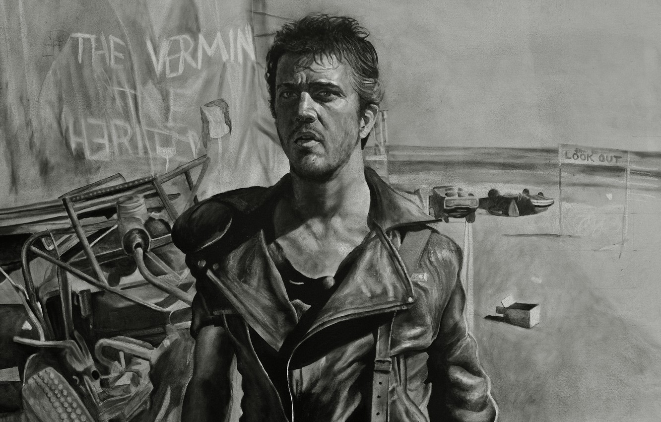 Wallpaper figure Mel Gibson Road warrior Mel Gibson Mad Max 2 1332x850