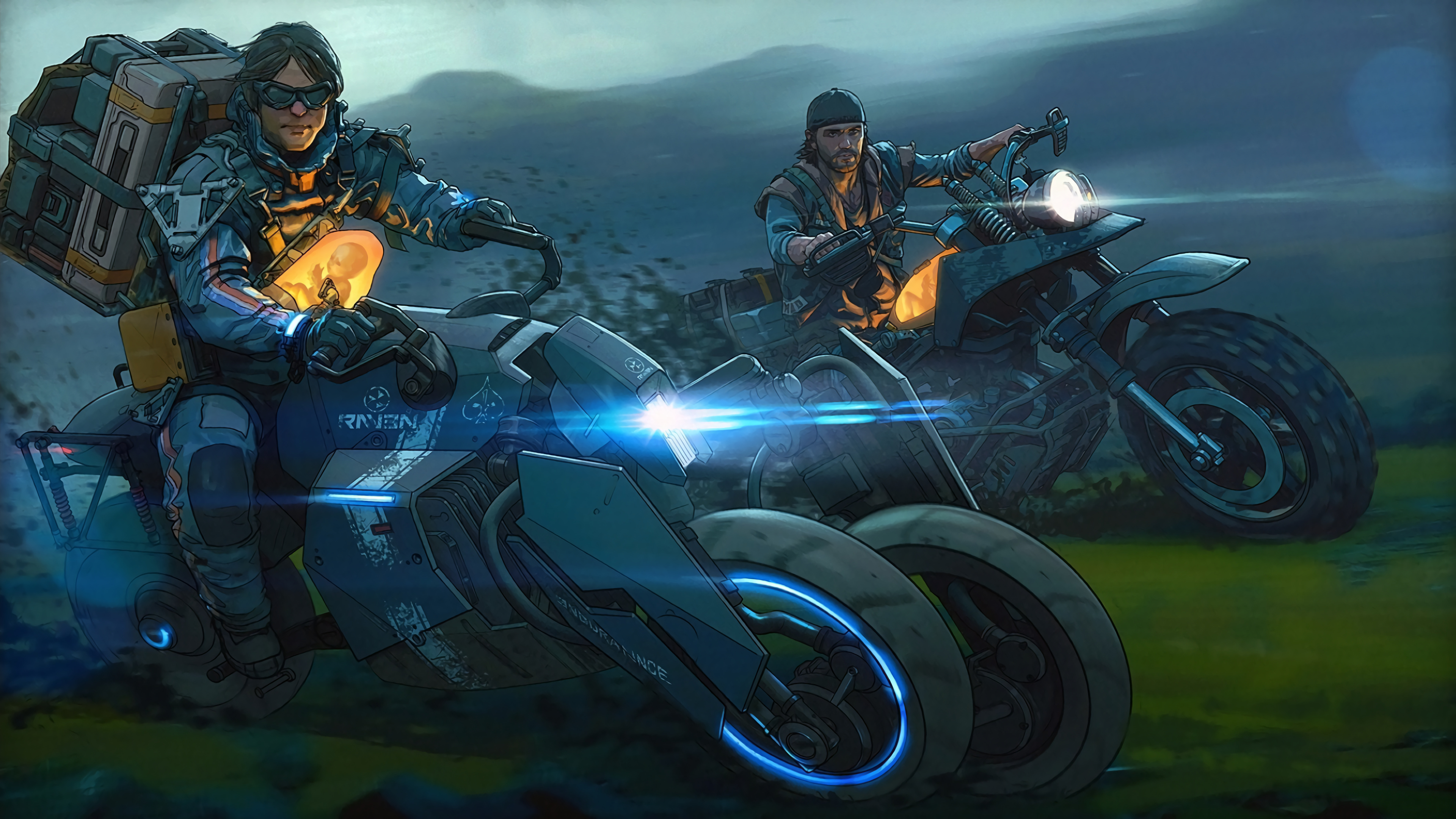 Death Stranding Motorcycle Days Gone 4K Wallpaper 51369 3840x2160