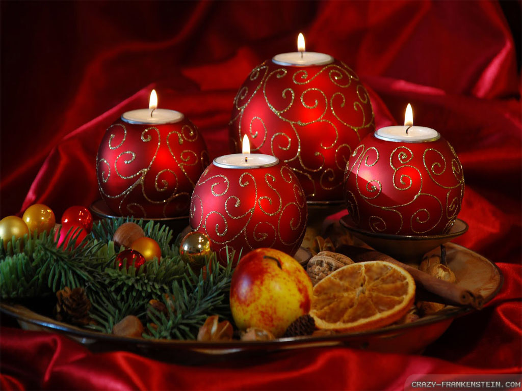 Wallpaper Christmas candles wallpapers 1024x768
