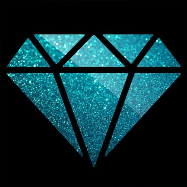 background backgrounds black blue diamond diamonds glitter 610x610