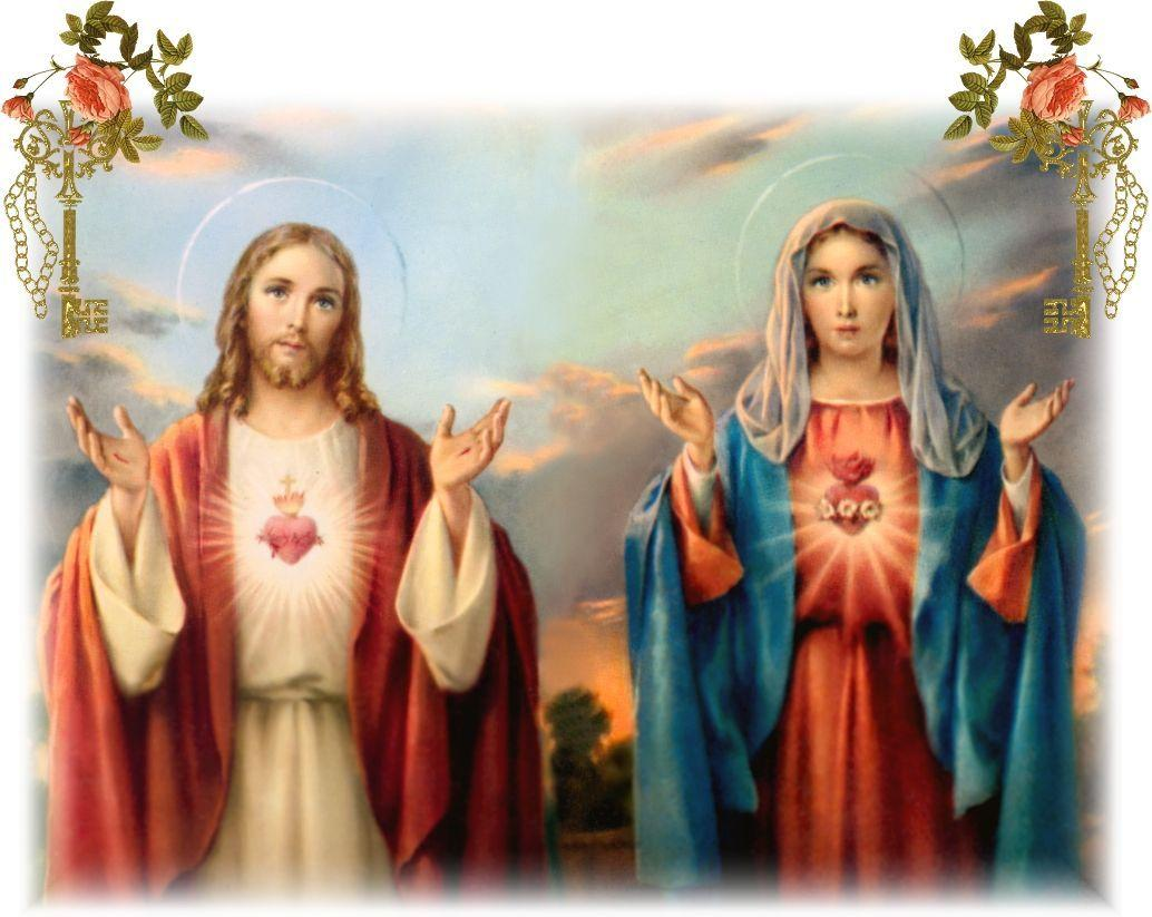 Jesus Christ Mother Mary Wallpapers 1034x823
