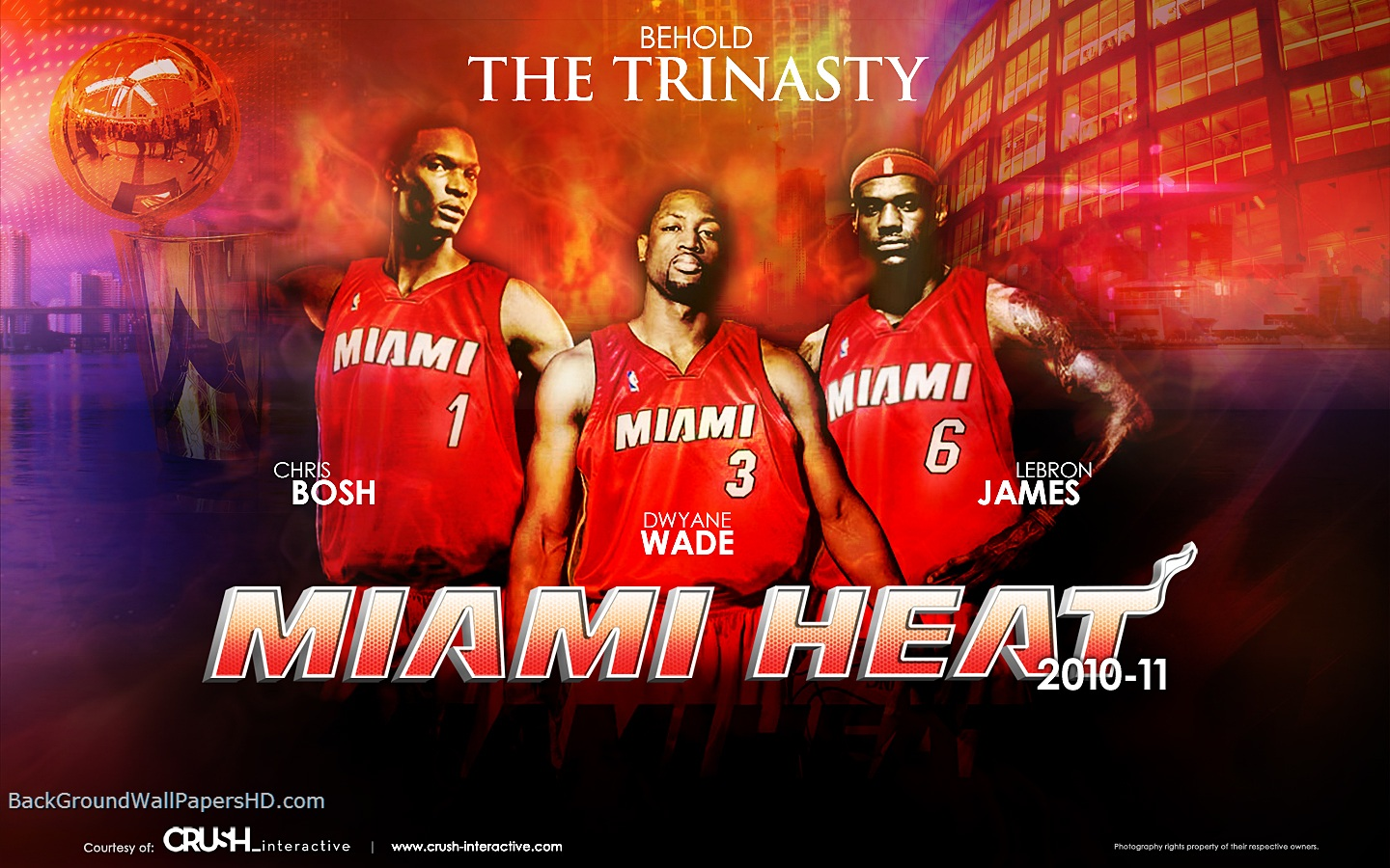 Three Miami Heat Player Wallpaper HD HD Wallpapers HD Backgrounds 1440x900
