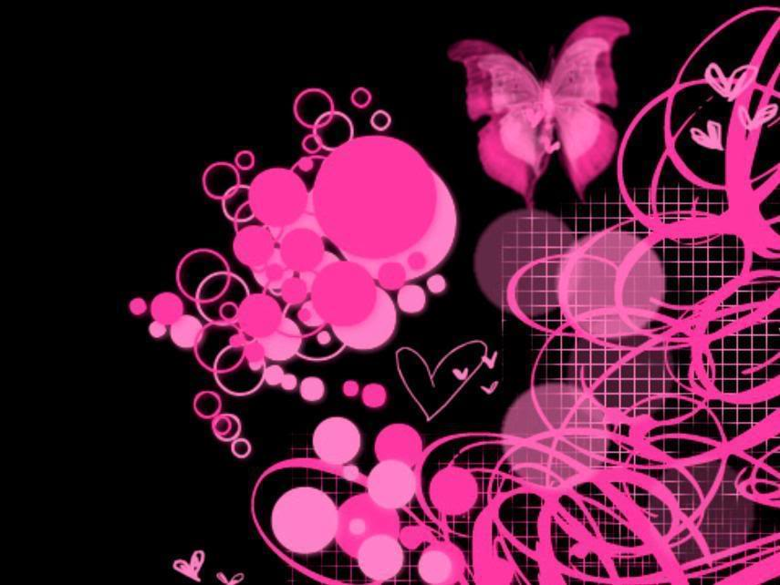 Pink Amp Black Wallpaper Pink Amp Black Desktop Background 855x642