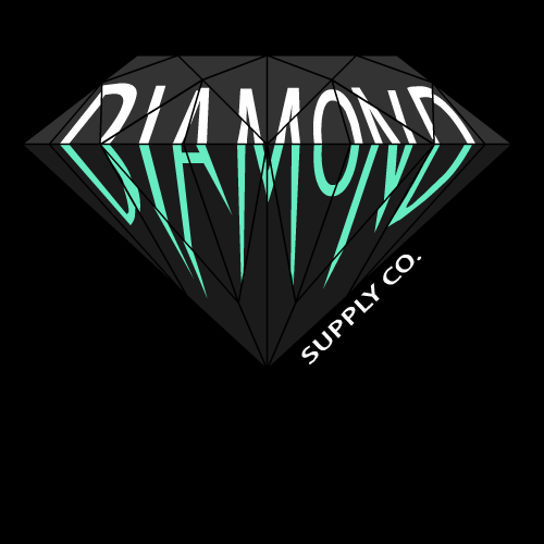 Diamond Supply Co Wallpaper Blue Diamond supply 500x500